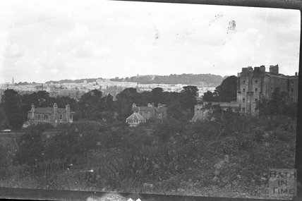 View to Camden Crescent from K&A Canal below Sydney Buildings , c.1950s