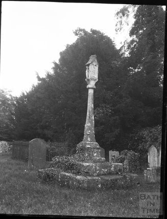 Churchyard cross, Holy Rood Church, Ampney Crucis, Glos., c.1900s