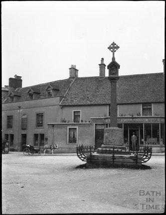 Market cross, Stow on the Wold, c.1900s