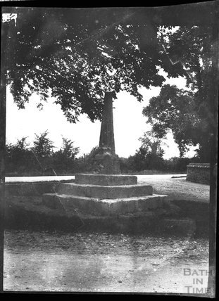 Remains of village cross in unknown location c.1900s