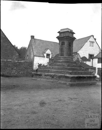 Base of market / village cross in unknown location c.1900s