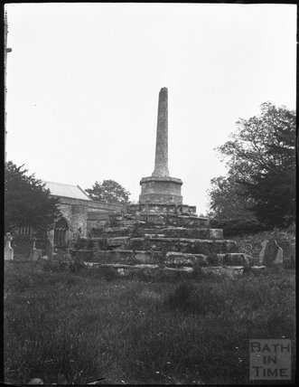 Shaft of churchyard cross in unknown location c.1900s