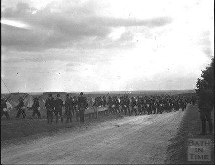 On the move, unidentified military camp, c.1900s