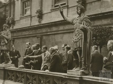 HRH Prince of Wales at Roman Baths, July 18th 1923