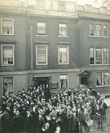 Sir Robert Ball unveiling a memorial tablet to Sir William Herschel, 19 New King Street, April 22 1899