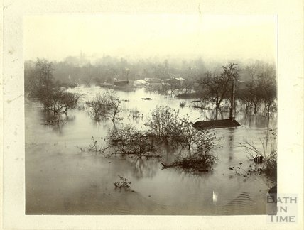 The Great Floods at Bath, 1894 Unknown Location