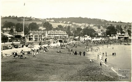 General view of the beach at Paignton, Devon, c.1920s