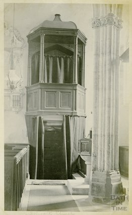 Inside Selworthy Church, c.1910s