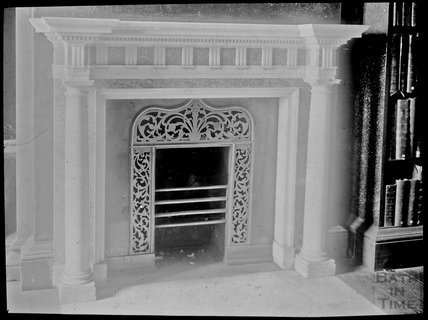 Unidentified Fire Place and Bookcase, c.1905