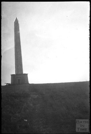 The Wellington Monument and ornamental cannons, Blackdown Hills, 1932