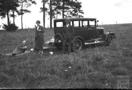 Picnicking by the motor car, c.1930s