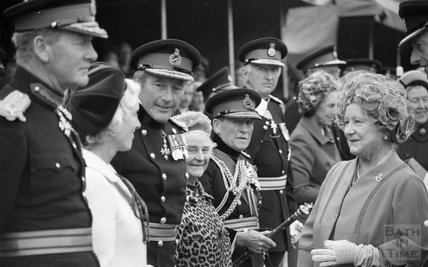 The Queen Mother visiting Bath, 26th October 1979