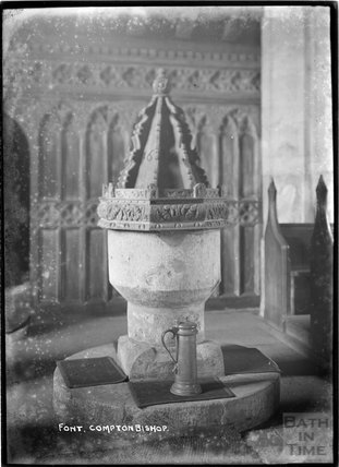 Font, Compton Bishop Church, c.1920s