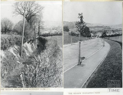 The Hollow, Twerton, before and after, 1931 and 1933