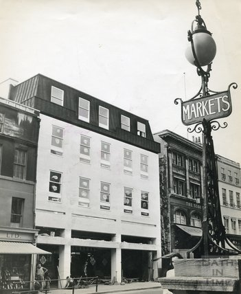 The newly completed first phase of the Harvey Block, c.1964