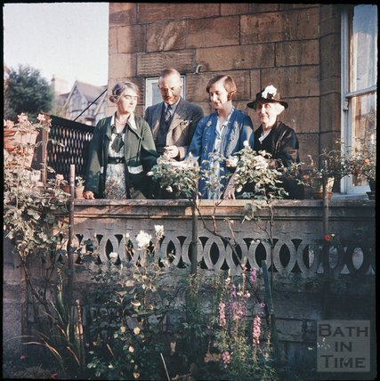 Family Group in the garden of the photographer in Shakespeare Avenue, Bath, 1955