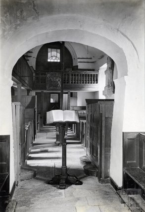 Inside St James Church, Cameley Somerset, c.1920s