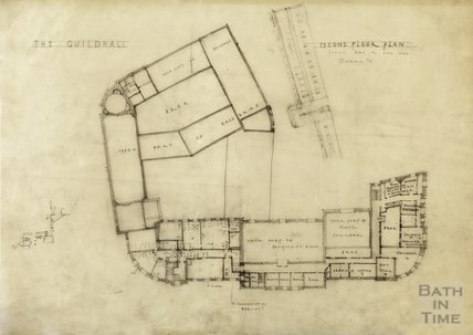 Proposed alterations at Guildhall - Scheme A, second floor plan - AJ Taylor c.1936