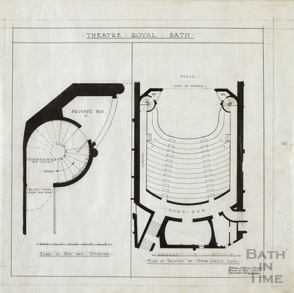 Theatre Royal - plans of box & staircase - plan of upper circle - AJ Taylor & AC Fare June 1927