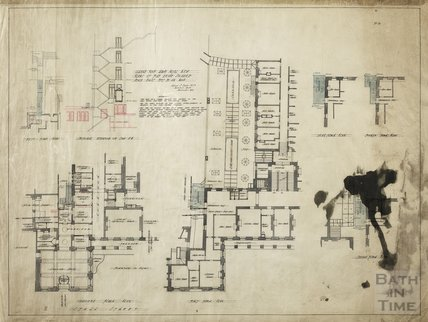 Grand Pump Room Hotel   Plans Of The Fire Escape Staircase   Plan No.10    Plans U0026 Sections Ground To 5th Floors   AJ Taylor November 1915