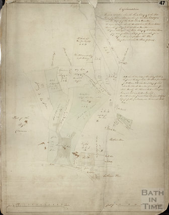 Copy of plan of estates between of Lansdown Road and High Common 1736