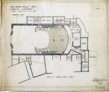 Theatre Royal proposed alterations - plan of Upper Circle level - no.47 - AJ Taylor May 1914