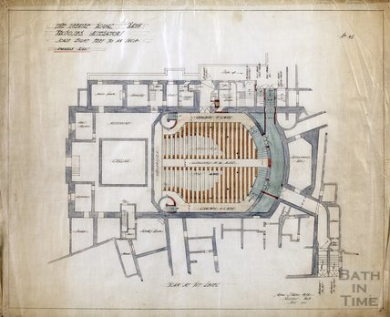 Theatre Royal proposed alterations - plan at pit level - no.45 - AJ Taylor April 1914