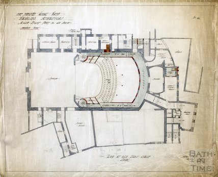Theatre Royal proposed alterations - plan at old Dress Circle level - no.46 - AJ Taylor May 1914
