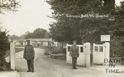 Entrance to Bath War Hospital, Combe Park, Bath c.1916