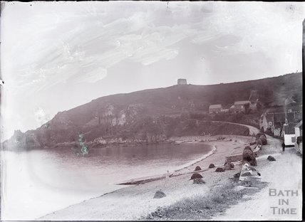 Unidentified coastal village, c.1902