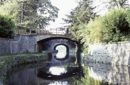 Kennet and Avon Canal, Sydney Gardens, Bath 1970