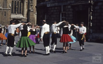 Dancing in Abbey Church Yard, 1971