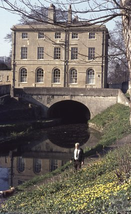 Cleveland House over the Kennet and Avon Canal, Bath 1974