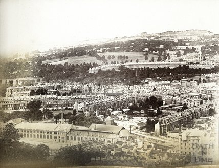 View of Bath from Beechen Cliff 1885