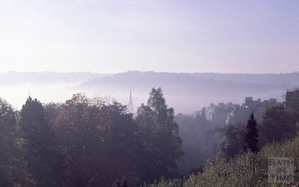 Fog over Bath, Dec 1978