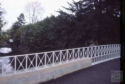 Restored bridge over the Kennet and Avon Canal, Sydney Gardens, Bath December 1978