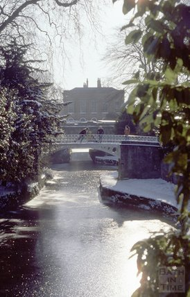 Kennet and Avon Canal in snow, Sydney Gardens, Bath February 1979