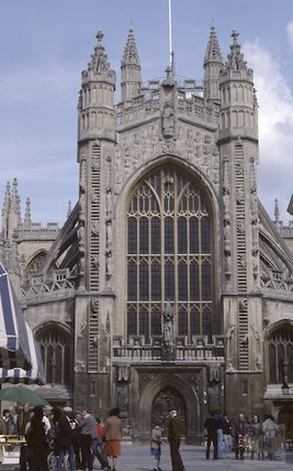 Bath Abbey, West Front, May 1979
