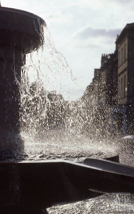 Laura Fountain, Laura Place, Great Pulteney Street, Nov 1979