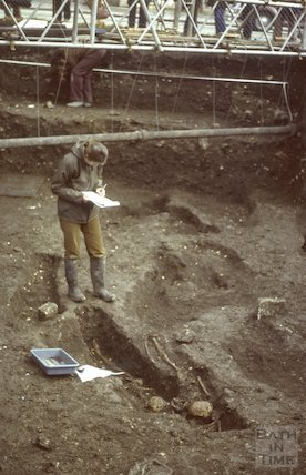 Orange Grove excavations, March 1980