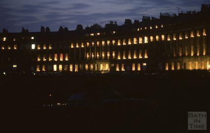 Royal Crescent, candles, June 1980
