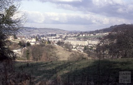 View of Bath from Perrymead, March 1983