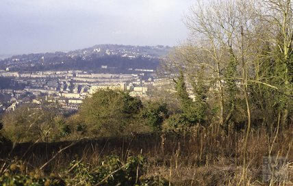 View from Sham Castle, Claverton Down, March 1987