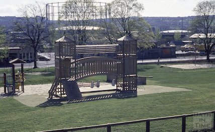 New play park in Royal Victoria Park, 1990