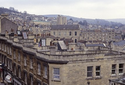 Walcot from the roof of St. Swithin's Church, Walcot 1992