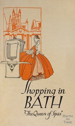 Cover to pamphlet celebrating the refurbishment of Cater, Stoffell and Fortt in the High Street, Bath c.1920