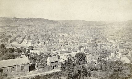 View of Bath from Beechen Cliff 1876