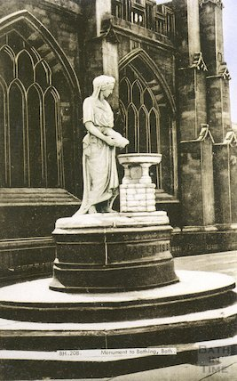 Postcard of Rebecca Fountain by Bath Abbey, erected 1861