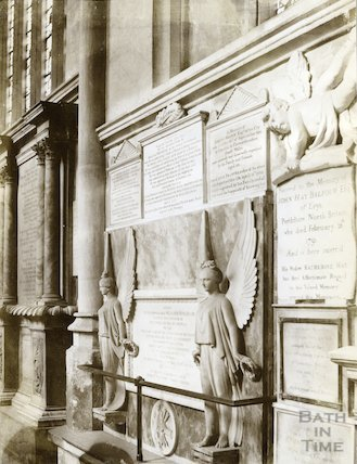 William Bingham and R. Balfour memorials Bath Abbey Church, c.1894