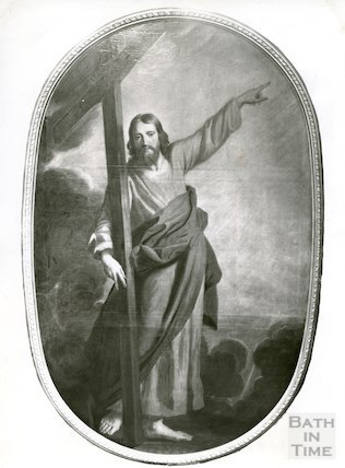 Copy of painting of Christ bearing the cross from inside St. Michael's Church